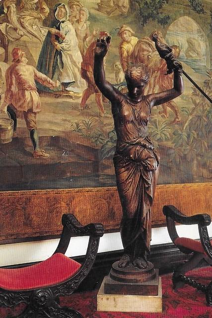 Tampa Bay  Florida - Tampa Bay Hotel - 1891 -  Now University of Tampa - 1997 - Interior Statue & Painting