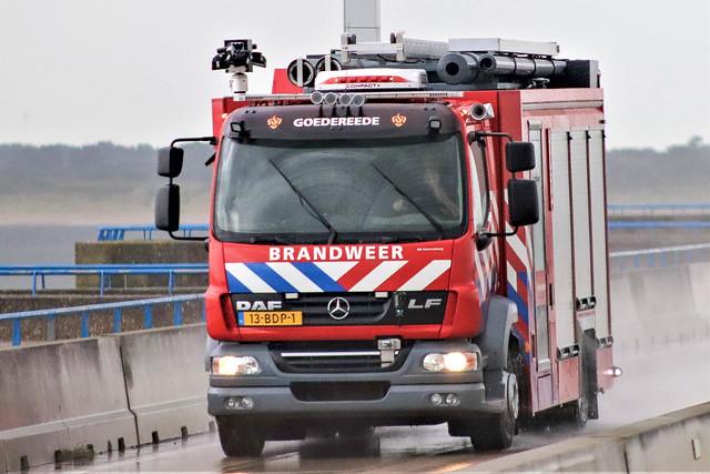 DAF LF, Fire rescue, Goedereede Holland.