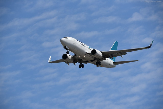 WestJet 737 Landing - 2