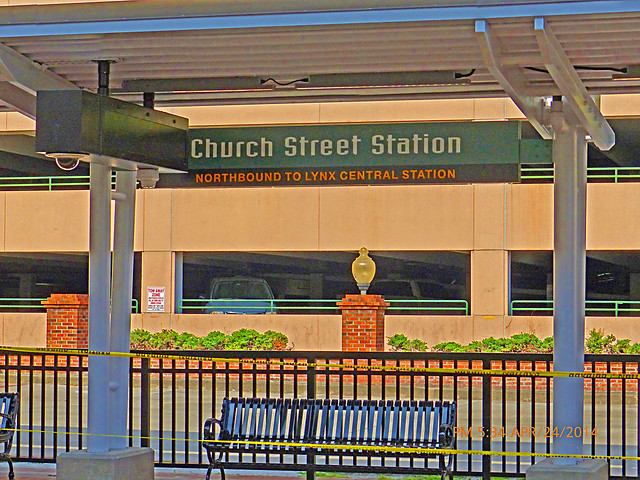 Sit awhile & wait for the Train in Downtown, Orlando, FL