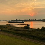 "11. August 2020 - 20:40 - Sunset in the river ""Waal"" near Zaltbommel"