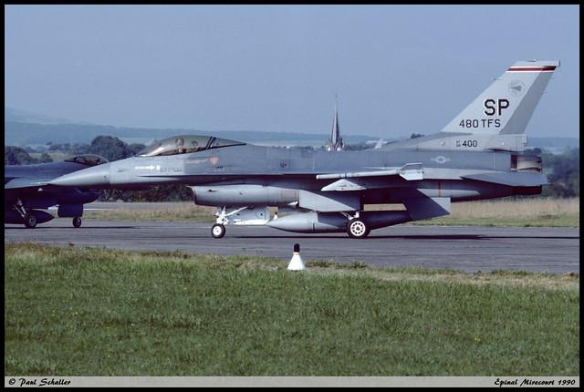 F16 C SP 88-0400 52TFW 480TFS Epinal Mirecourt septembre 1990