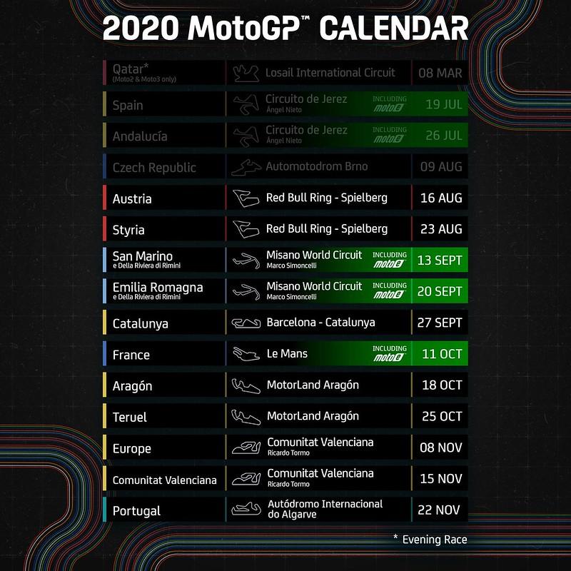 MotoGP 2020 Schedule Final Revision