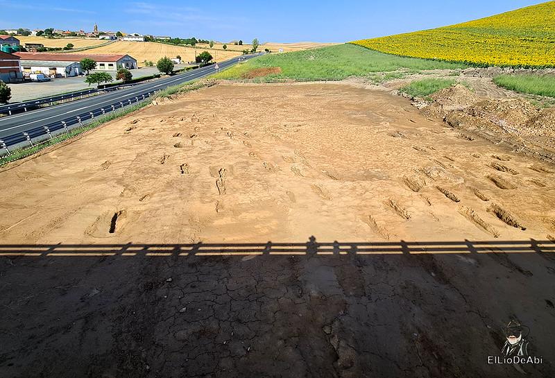 Las obras de la autovia entre La Rioja y Burgos descubre una necrópolis altomedieval en Grañón (1)