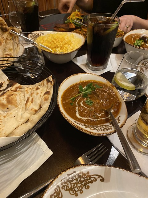 Curry at Ashas restaurant, Solihull
