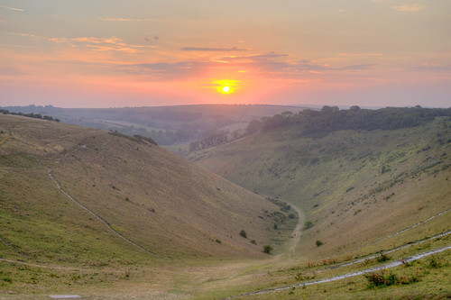 devilsdyke dyke sunrise valley august 2020 summer dawn morning sun brighton sussex nationaltrust heatwave