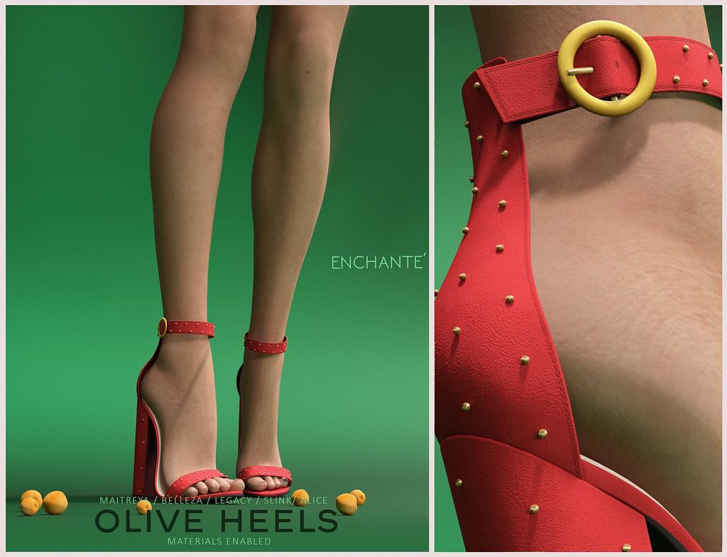 Enchanté - Olive Heels @ equal10