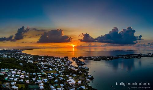dji aerialphotography flatcalm mavicpro aerial flatts bermuda sunset