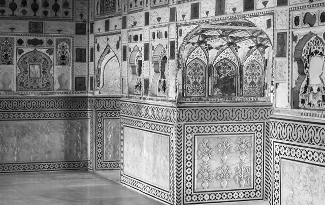 Tiles,  Mirror Palace, Amber Fort, Amer,Rajasthan, India