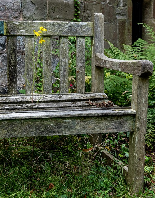 Just an old church bench.