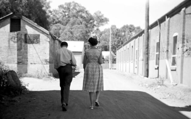 1967_369 walking home at Hay