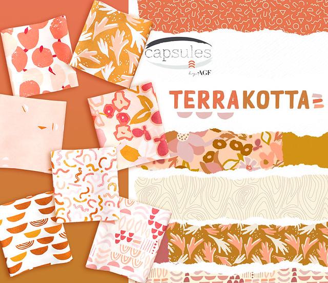 Art Gallery Fabrics Terra Kotta Collection by AGF Studio