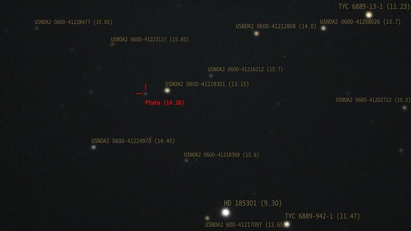 冥王星 (2020/8/11 23:00) (キャプション付き)