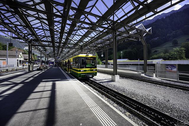 Railway station Lauterbrunnen - Bern - Switzerland