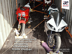 Containerized Motorcycle Shipping Overseas from Dubai