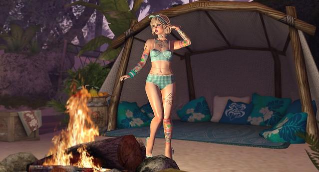 !Maitreya PETITE BOM Nardcotix Hattie Bikini Teal