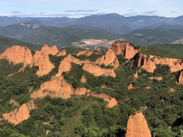 Las Médulas desde el mirador de Orellán (El Bierzo, León)
