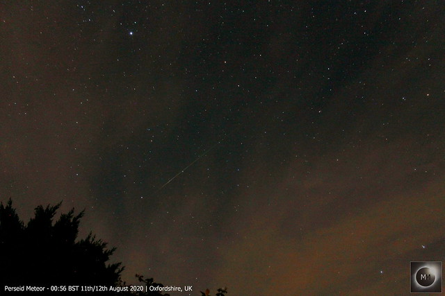 Perseid Meteor from Oxfordshire 00:56 BST 11th/12th August 2020