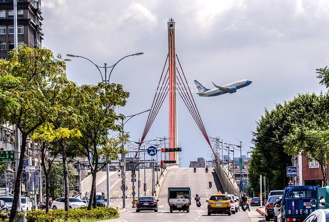 美國國務院政府專機離台 / RCSS USA 10040 C40B leaves Taiwan