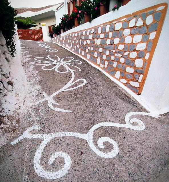 Paint in street