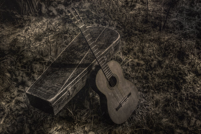 Vintage classical guitar 1940