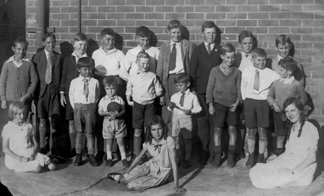 1934_374 group of children at Hay