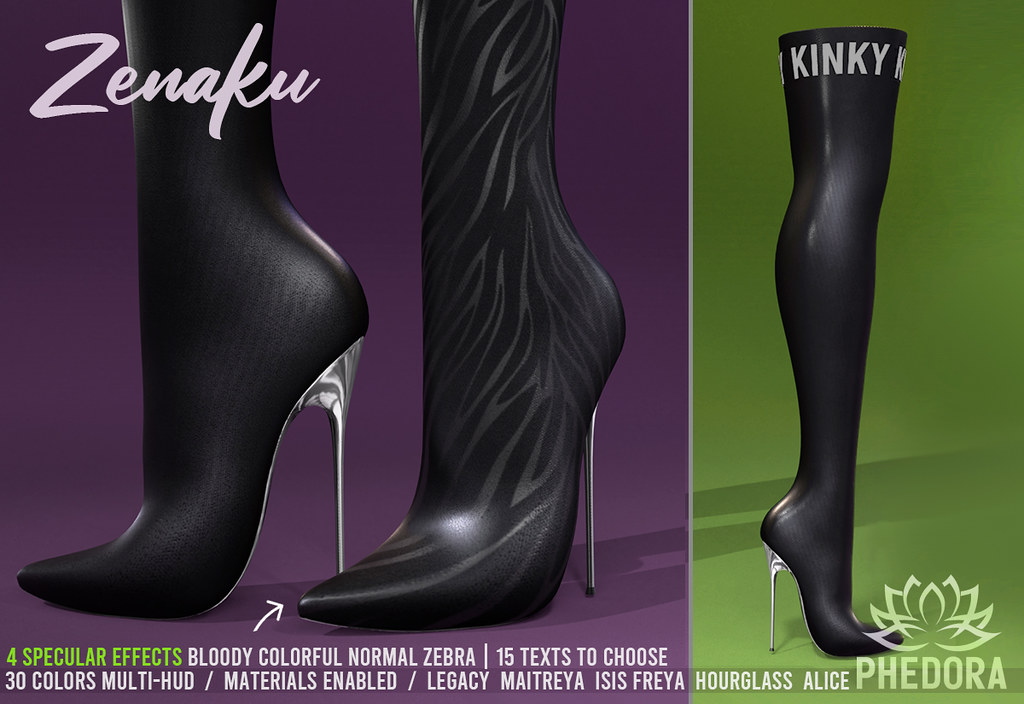 "Phedora for Kinky Event ~ ""Zenaku"" Boots ♥"