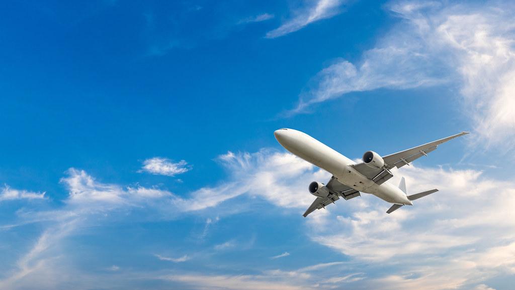 Aeroplane in the sky.