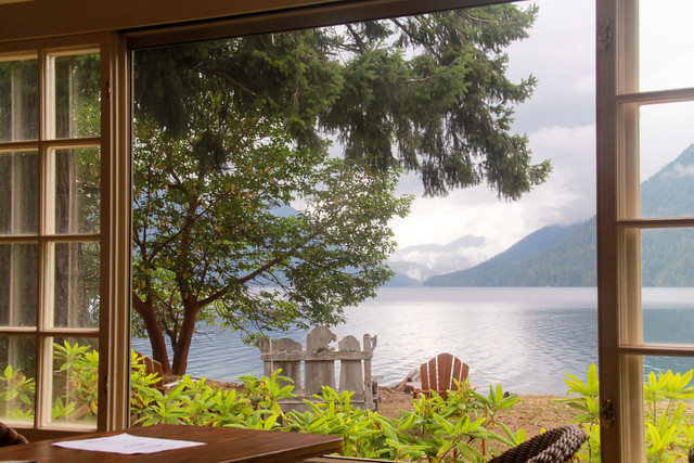 Window view of Lake Crescent - HWW! - Explored