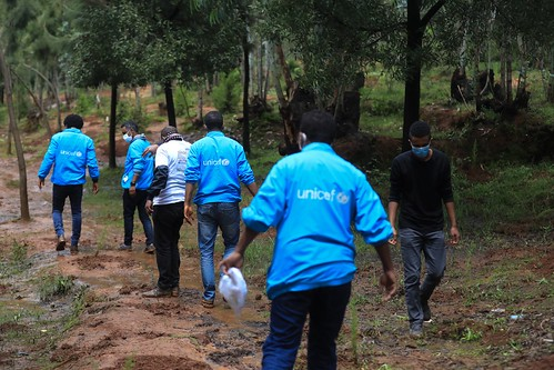 UNICEF staff joined UN staff in Ethiopia in planting trees as part of the countries Green Legacy initiative in Yeka Kifle Ketema | by UNICEF Ethiopia