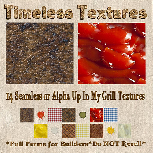 TT 14 Seamless or Alpha Up In My Grill Timeless Textures