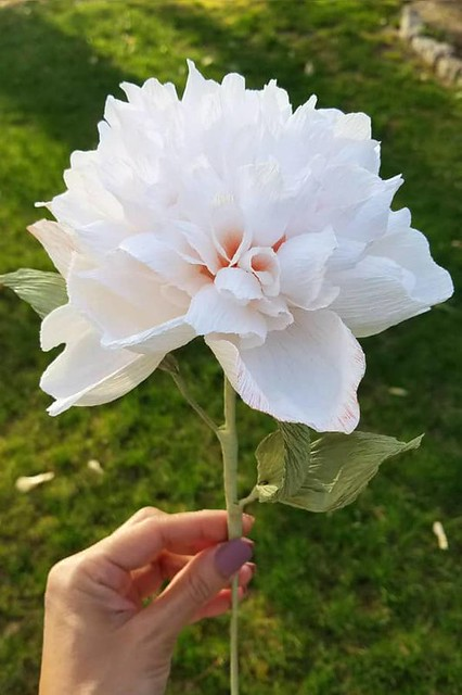 Hand-Painted Paper Peony