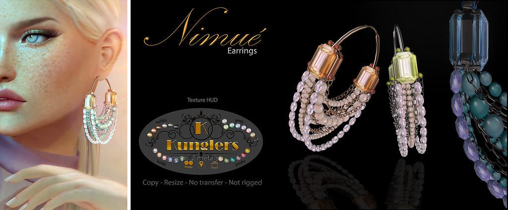 KUNGLERS – Nimue earrings