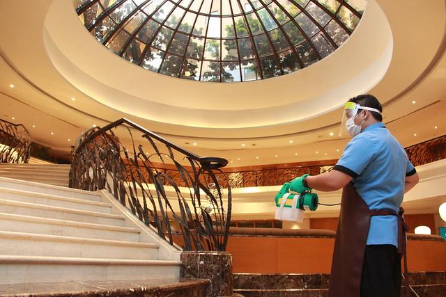 Regular Sanitisation in key hotel areas