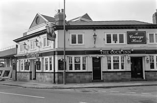 Cock Tavern, Church St, Bridge St, Staines, Middx, 1987, Spelthorne 87-10i-31-positive_2400
