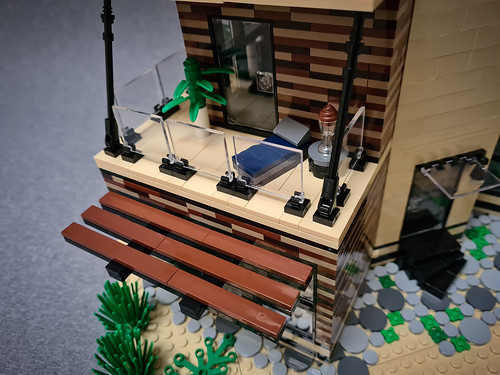 Angled Case House MOC. First terrace.
