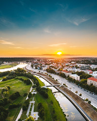 Sunset | Kaunas aerial #224/365