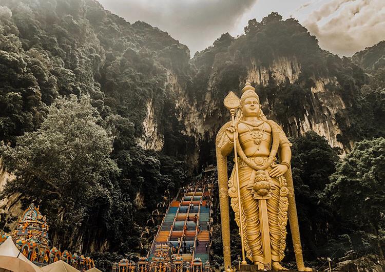 Batu Caves in Gombak, Selangor, Malaysia