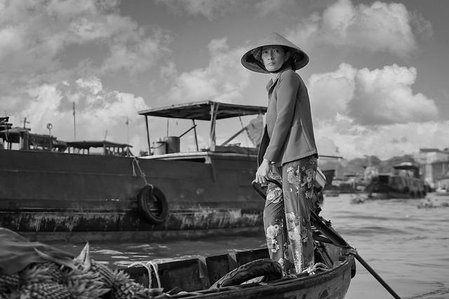 Woman Taking Pineapples to Market