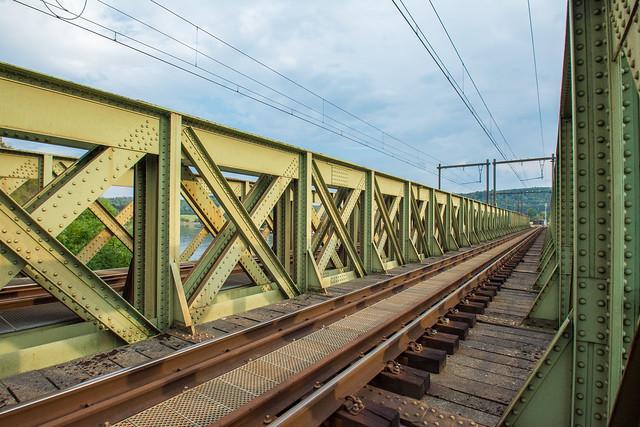 Railroad bridge over the Meuse.