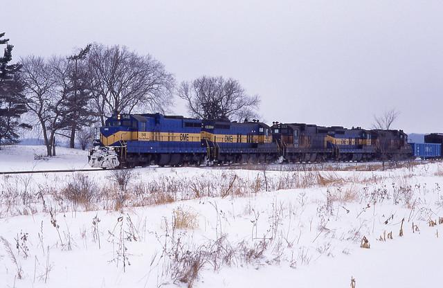 DME Dakota Minnesota & Eastern SD10 #548 Eastbound MP 25 01-26-98