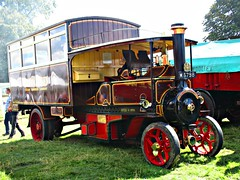 robertknight16 posted a photo:	Foden Steam Bus (5 ton) (1914)Engine Number 4258Livery Midland (steam omnibus Owner Alan Painter, Scholars Green, Stoke on Trentcompany)Registration Number M5798 (Cheshire)FODEN SETwww.flickr.com/photos/45676495@N05/sets/72157623789275606...Originally a 1914 two axle flat bed lorry, it has been converted by its owner to a replica of the 1914 steam bus used to transport Foden workers to the the Foden Works in 1914Thankyou for a massive 53,864,391 views Shot 29.08.2016 at Shrewesbury Steam Rally, Onslow Park, Shrewesbury REF 119-256