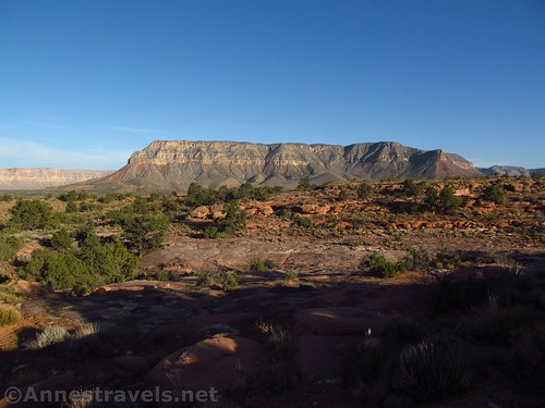 Looking south from the Tuweep Campground - chances are the butte is on the other side of the Grand Canyon, Arizona