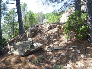 Chemin de Luviu : montée finale sur la la piste supérieure de Luviu