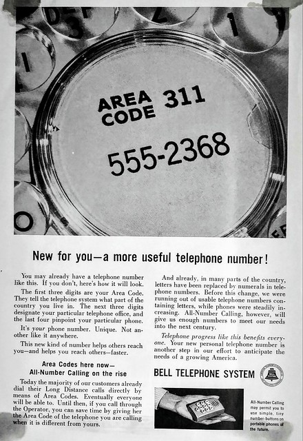 1962 Bell System Ad All Number Calling