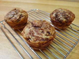 Banana Cinnamon Swirl Muffins