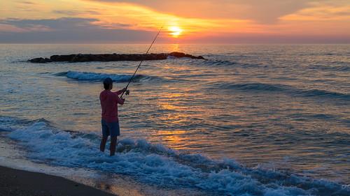 springlakenj springlake newjersey jerseyshore sunrise dawn fishing fisherman surffishing