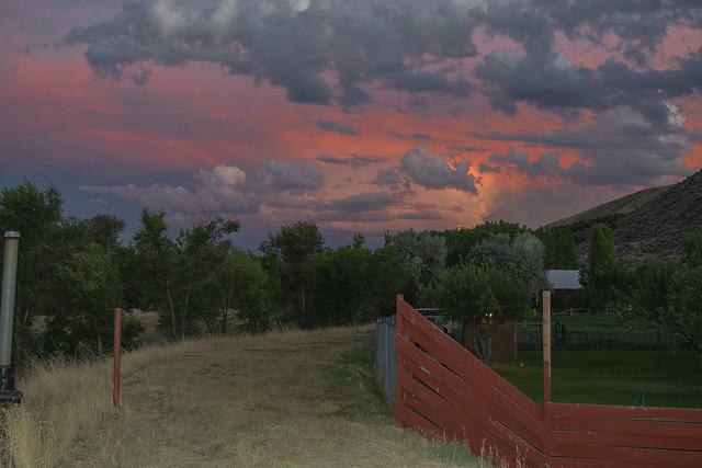 Storm cloud at dusk near Pocatello, Idaho