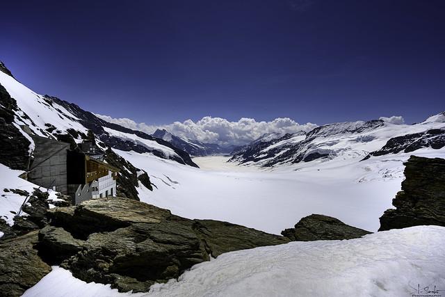 View of the Aletsch glacier from the Jungfraujoch Plateau - Bern/Wallis - Switzerland