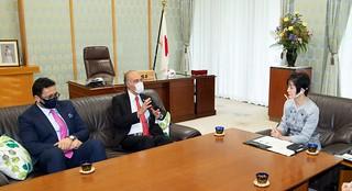 Ambassador's Meeting with Ms. Santo